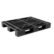 Pallet nhựa đen lõi sắt 1200x1000mm (tải động-tải tĩnh: 1.5-5 tấn)